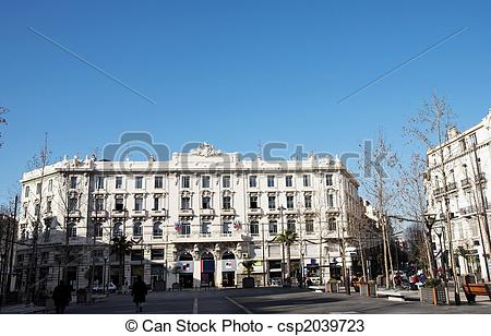 Stock Photos of Buildings in Antibes.