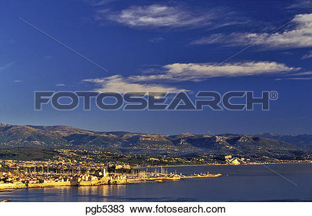 Stock Photo of France, Provence, Cote d'Azur. Antibes, the.