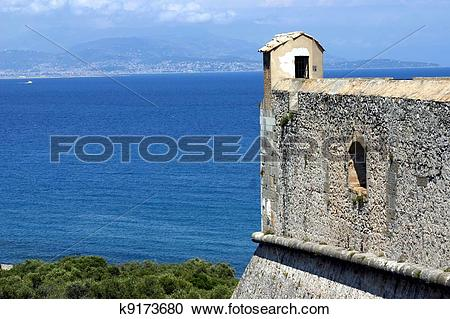 Stock Photography of Fort carre, Antibes, French Riviera k9173680.