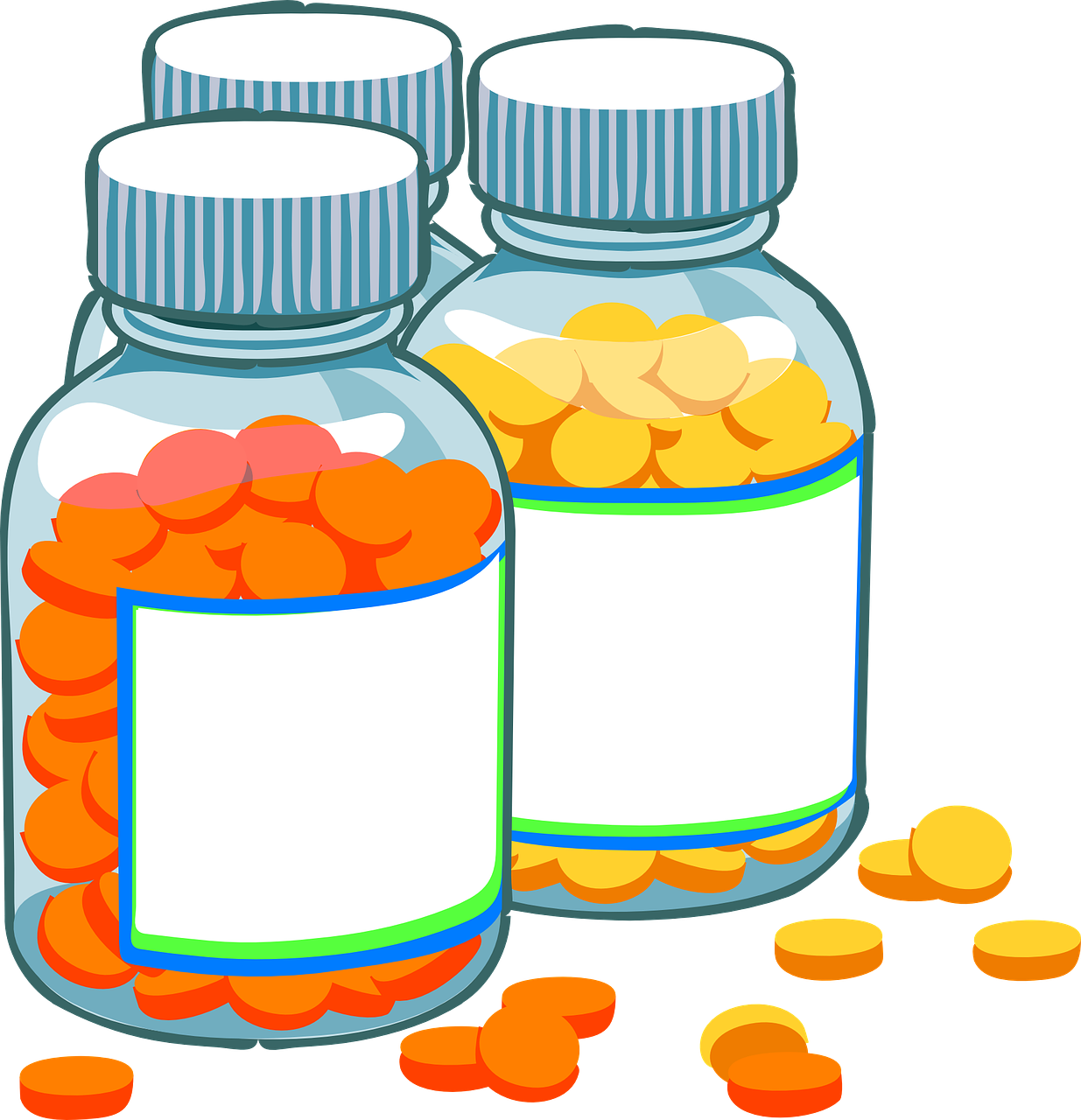 Antibiotics Bottle Clipart.
