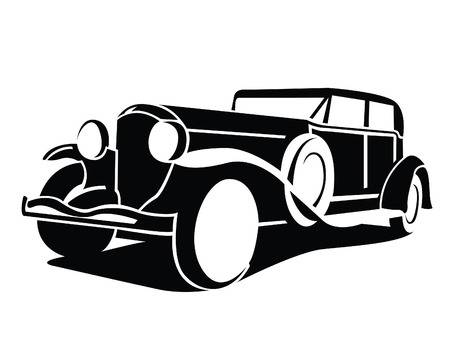 Classic car clipart black and white 1 » Clipart Station.