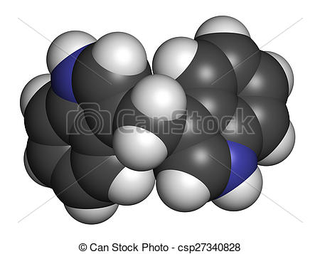 Clip Art of Diindolylmethane (3,3'.