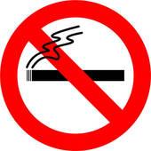 Clipart of Anti Cancer and anti Smoking ribbon k4420995.