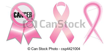 EPS Vector of Anti Cancer ribbons isolated over a white background.