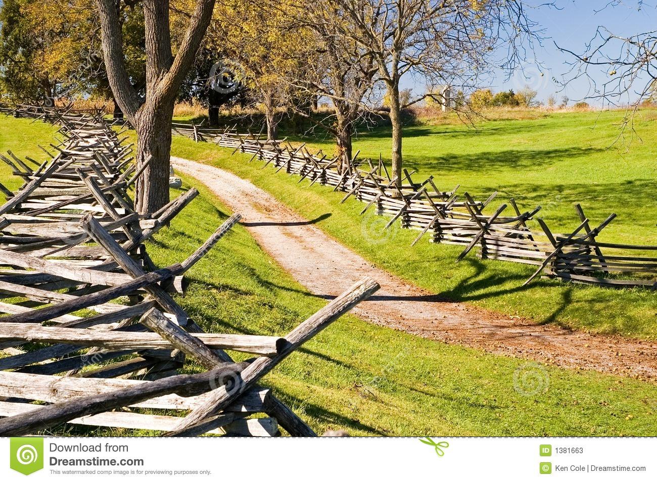 Antietam Civil War Battle Site Stock Photos.