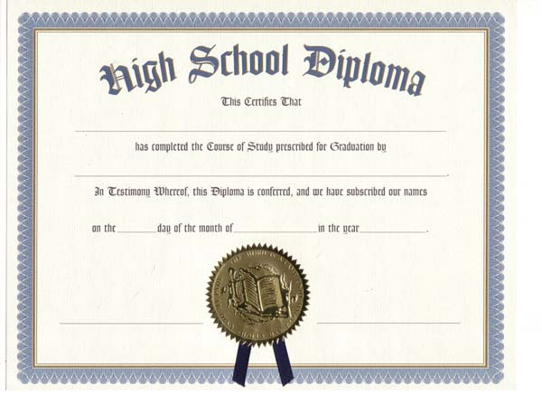 High School Diploma Clipart.