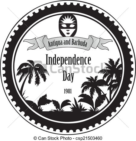 Clip Art Vector of Independence Day Antigua and Barbuda.
