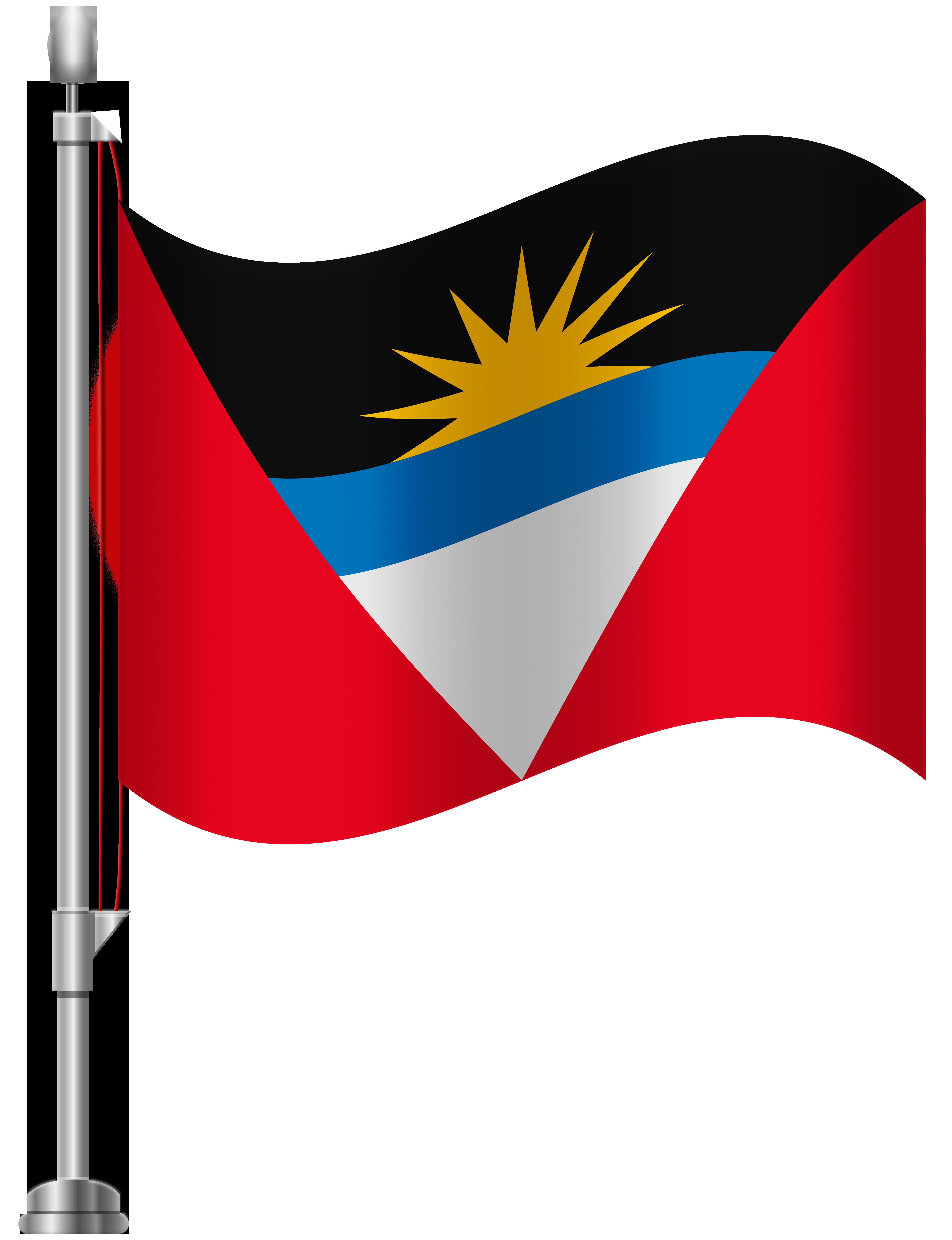 Antigua Flag PNG Clip Art.