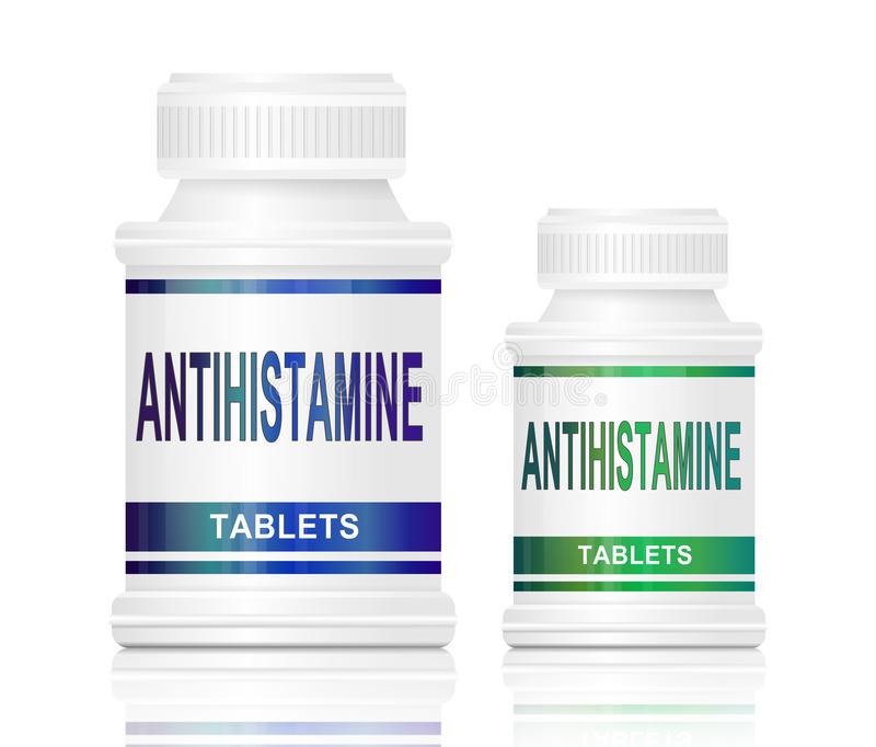 Antihistamine Stock Illustrations.