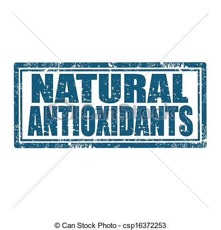 Clipart Vector of Natural Antioxidants.
