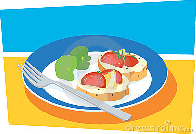 Antipasti clipart clipground for Canape vector download