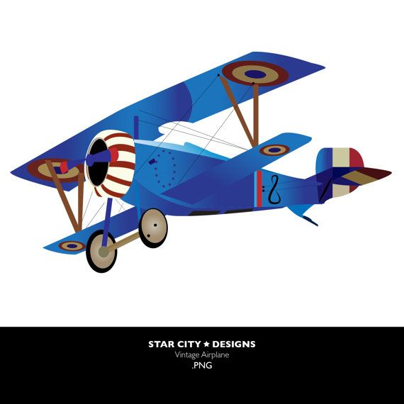 Vintage Airplane Clipart Free.