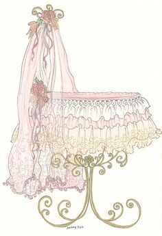 antique bassinet images.