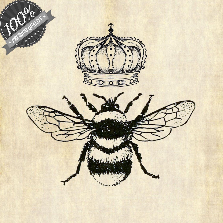 Vintage Images, Queen Bee Clipart, Bee Clipart, Vintage.