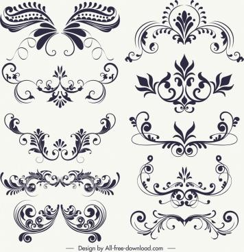 Black and white vintage frame border free vector download.