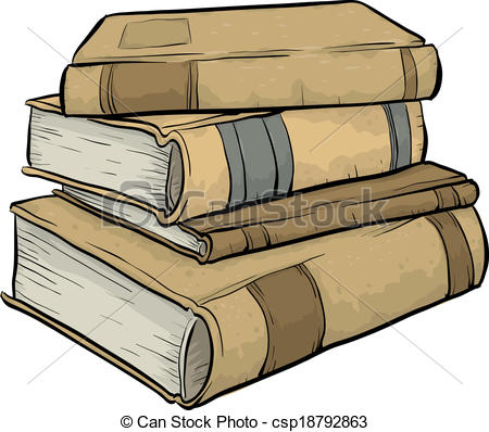 Old books clipart.