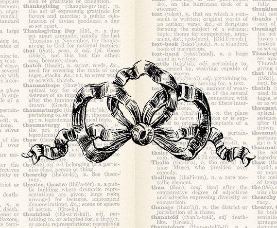 Vintage Bow Clipart Digital Download Antique Victorian.