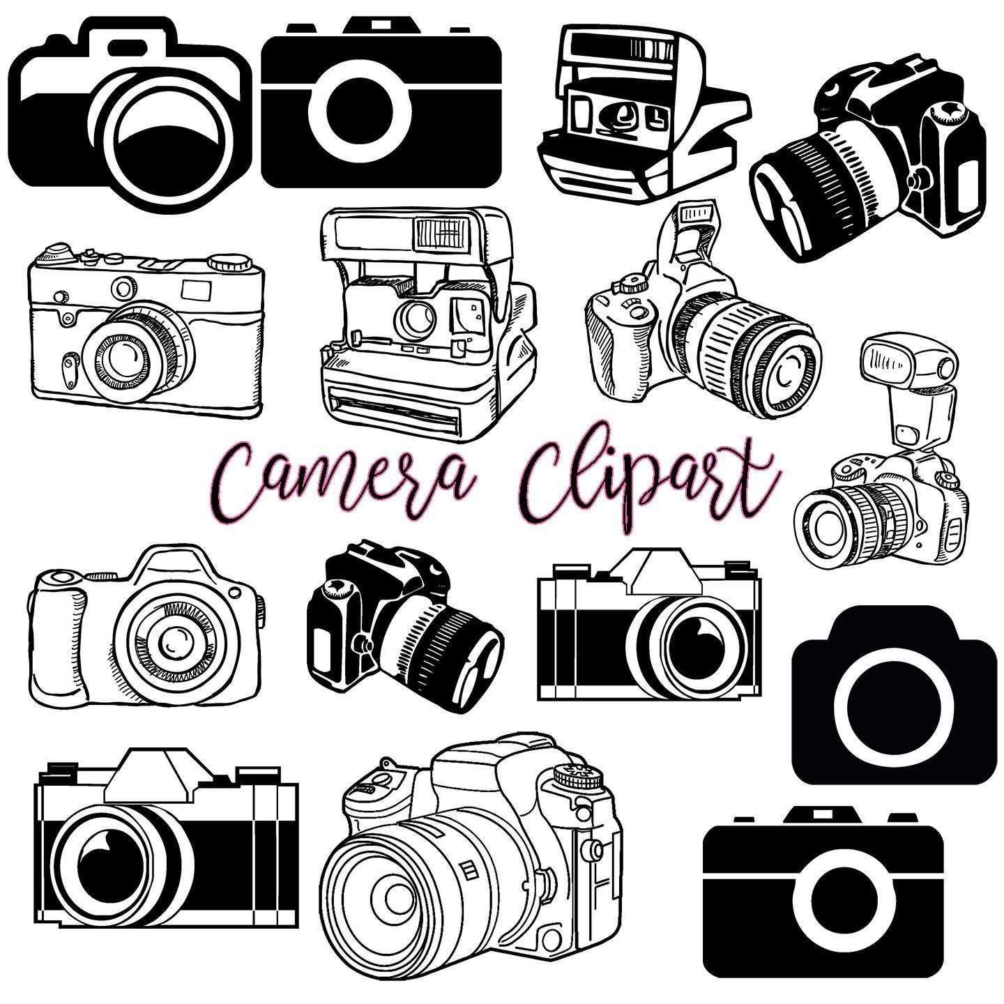 Camera Clipart #1, Photography Clip Art Logo Elements.