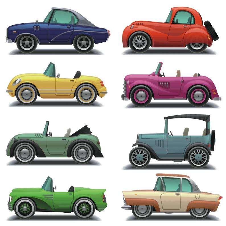 Car Clipart, Car Clip Art, Vintage Car Clipart, Vintage Cars Digital, Old  Car Clipart, Printable, Instant Download, Commercial Use, PNG.