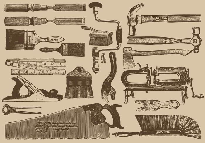 Vintage Carpenter Tools.