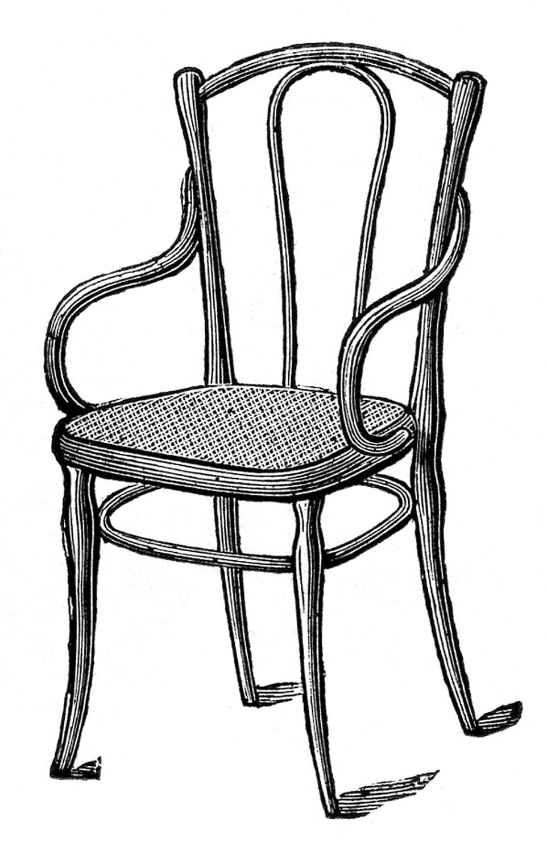 Antique Chair Clipart.