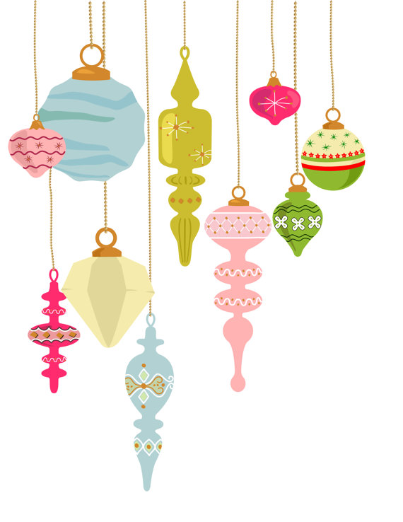 Antique Christmas Ornaments Clipart Clipground
