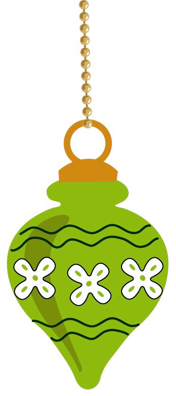 Antique christmas ornament clipart.