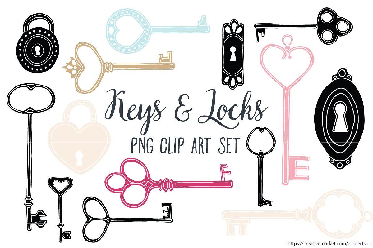 Keys Clip Art Antique Key Clipart.