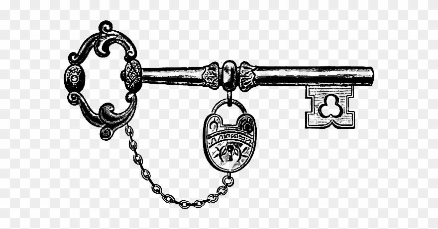 Download Vintage Key & Lock Clip Art Image.
