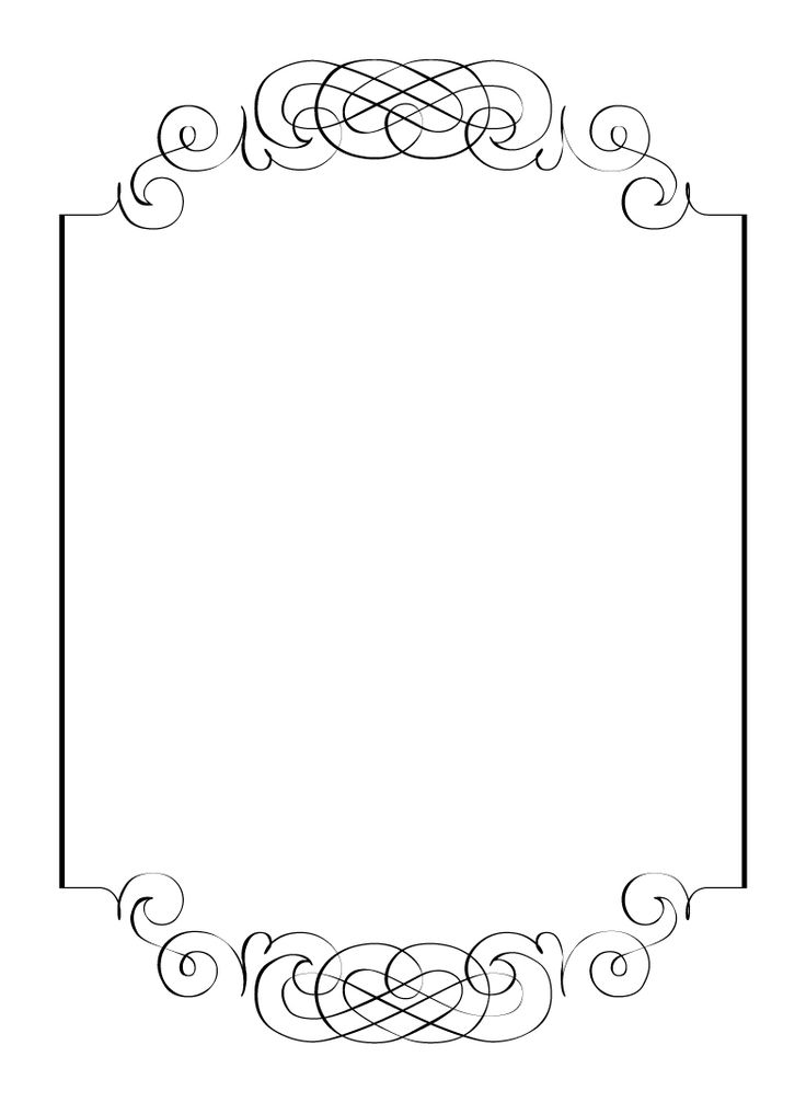 Free vintage clip art images calligraphic frames and borders.