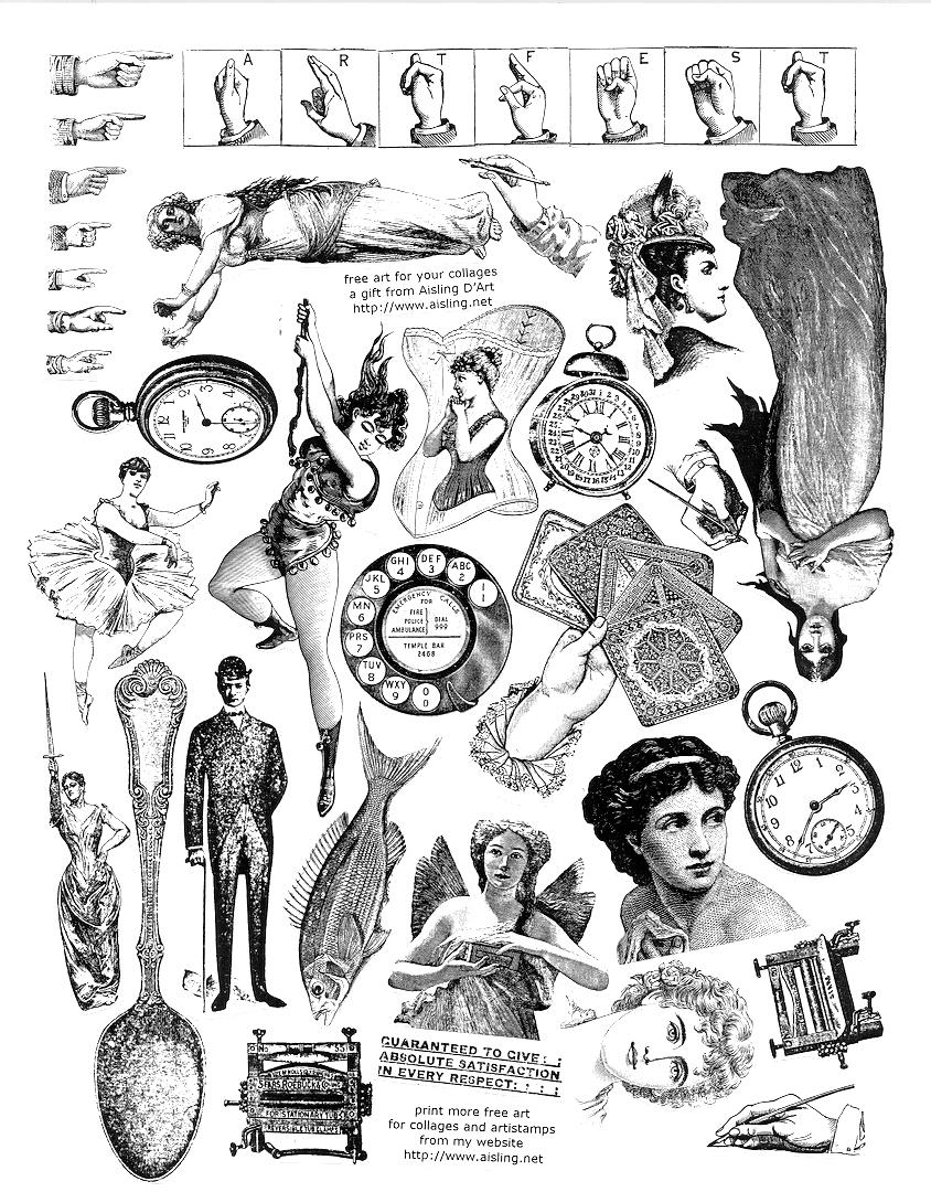 Free antique clip art images.