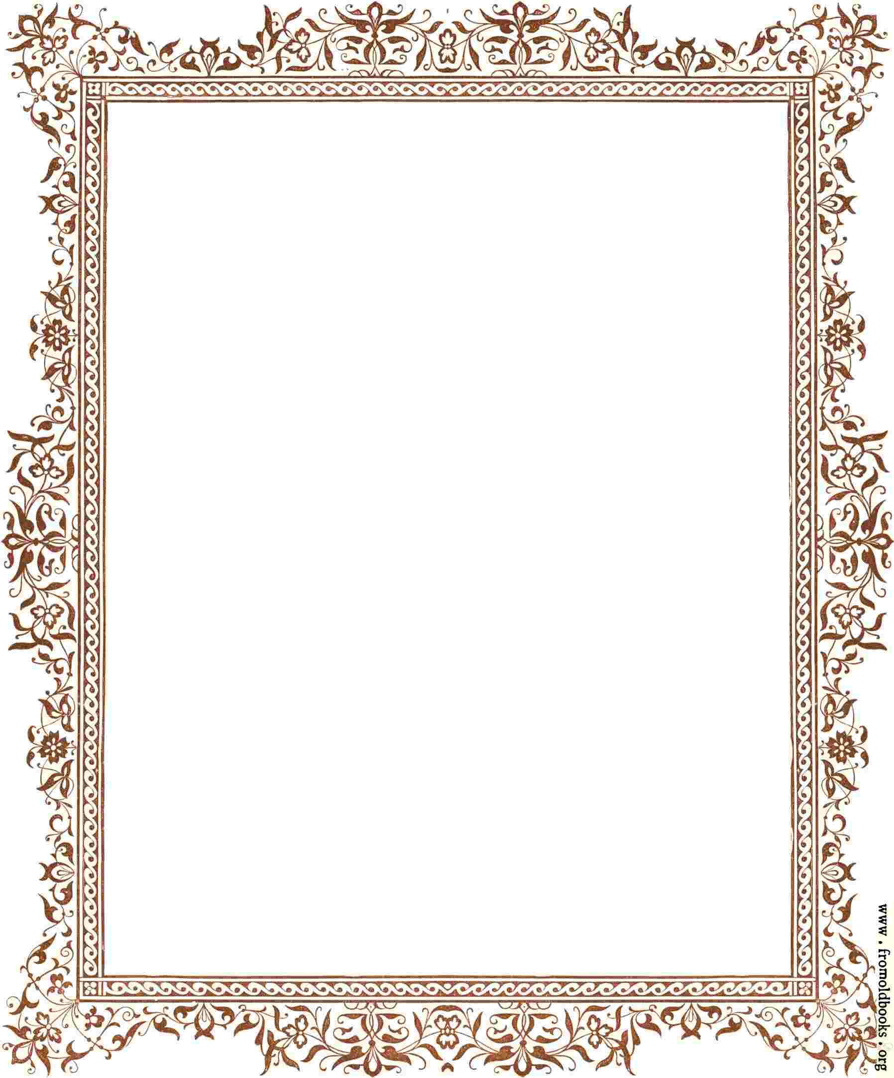 Cliparts Library: Antique Border Clipart Leafy Clip Art.
