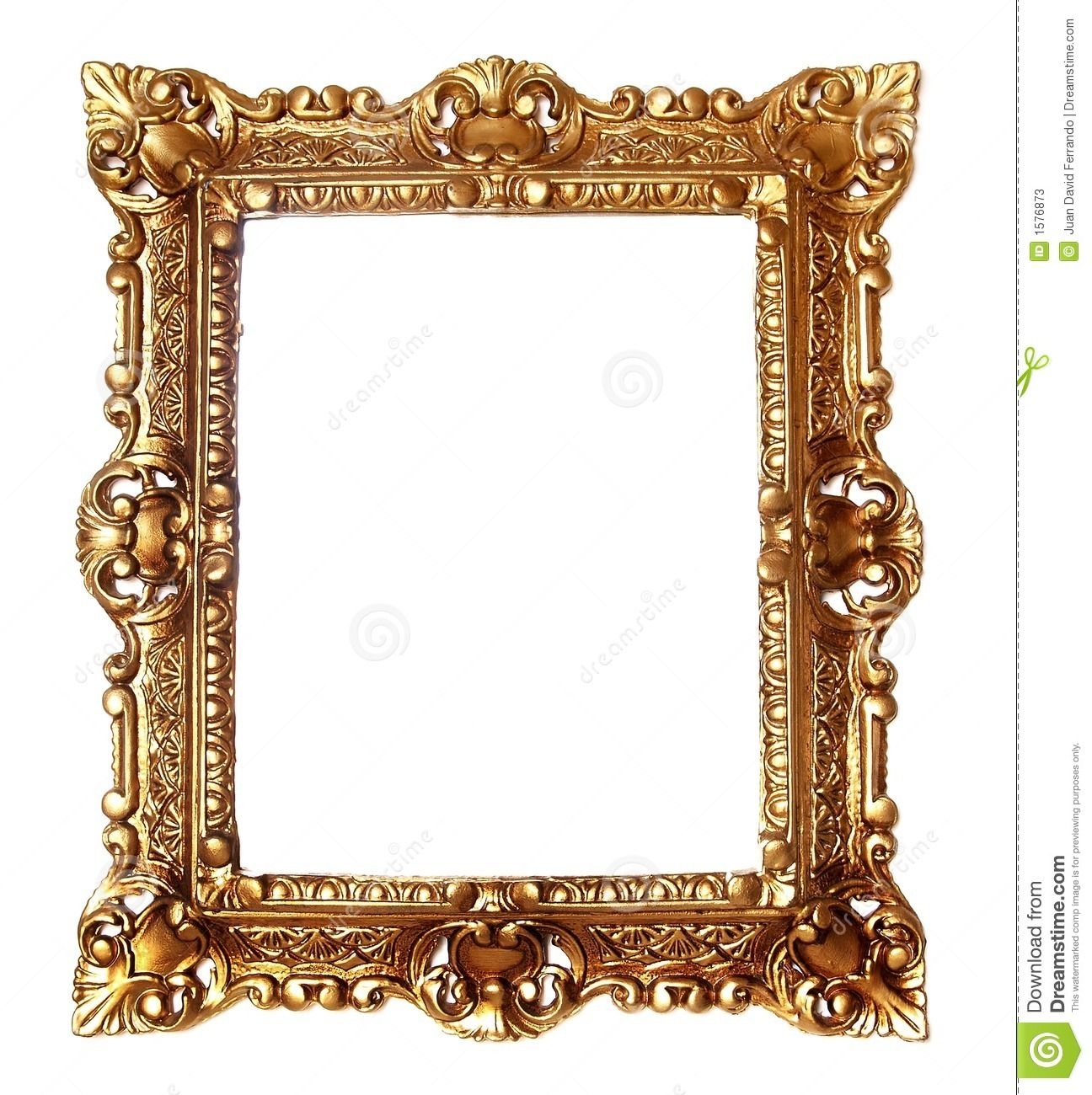 Antique Frame Clipart Gold.