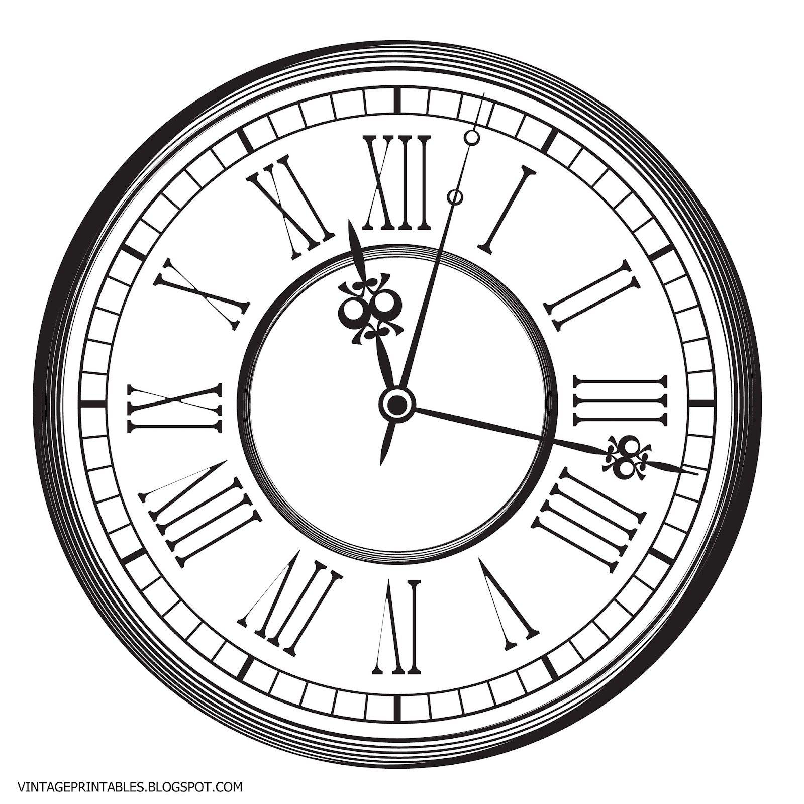 Free vintage clip art images: Old antique clock free clip.
