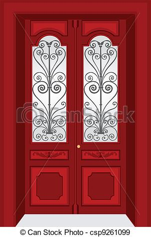 EPS Vectors of Antique door vintage style csp9261099.