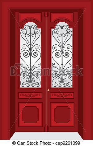 EPS Vectors of Antique door vintage style csp9261099.