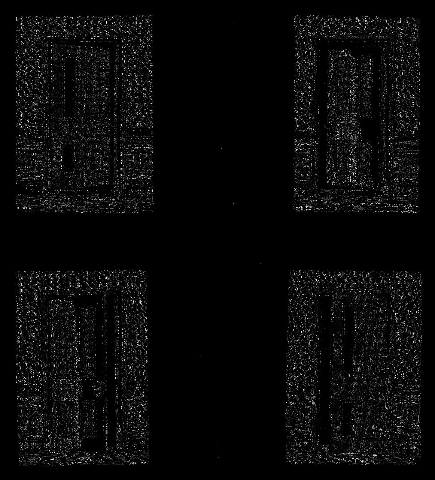 Antique Images: 4 Doors Digital Collage Sheet Vintage Decor Clip.