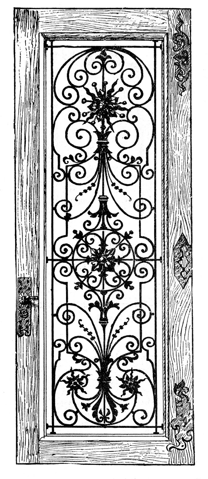 Antique door clipart #6