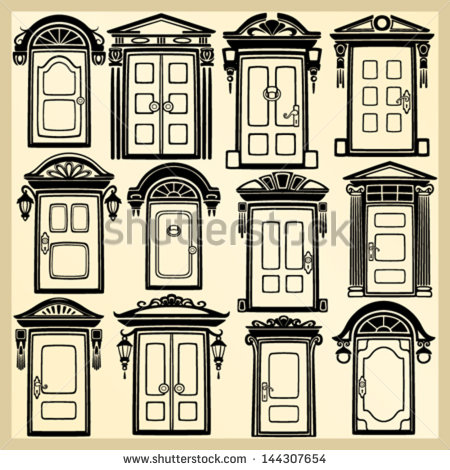 Antique door clipart #10