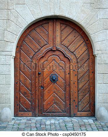 Stock Images of Magic woden doorway.