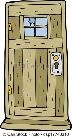Old wooden door clipart.