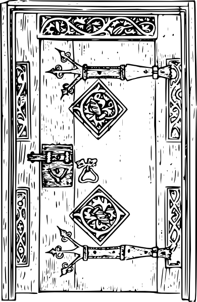 Antique door clipart #17