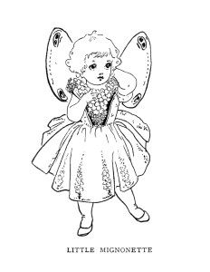 vintage storybook illustration, fairy clip art, black and.