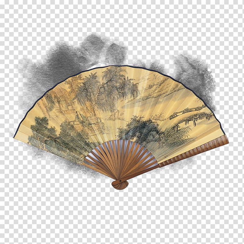 Budaya Tionghoa Chinoiserie, Chinese style antique fan.