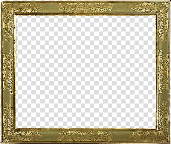 Antique Frames s, square gold frame transparent background.