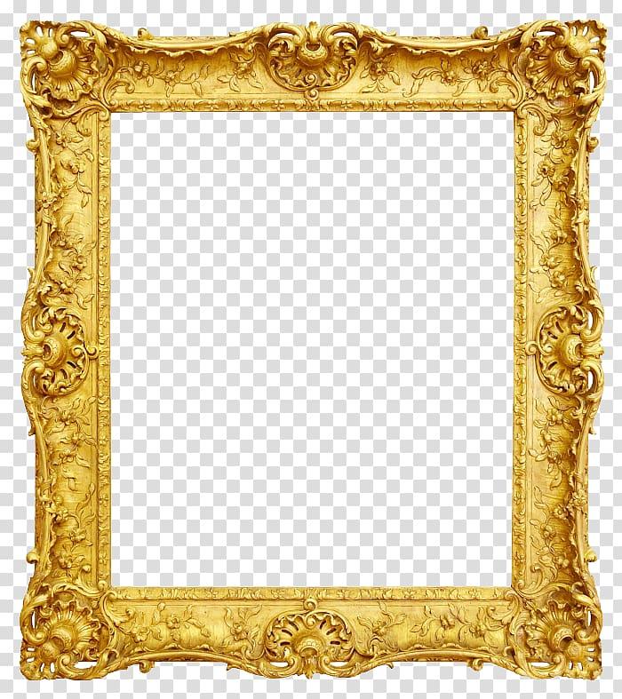 Frame Antique Gold, Gold frame, gold ornate border template.