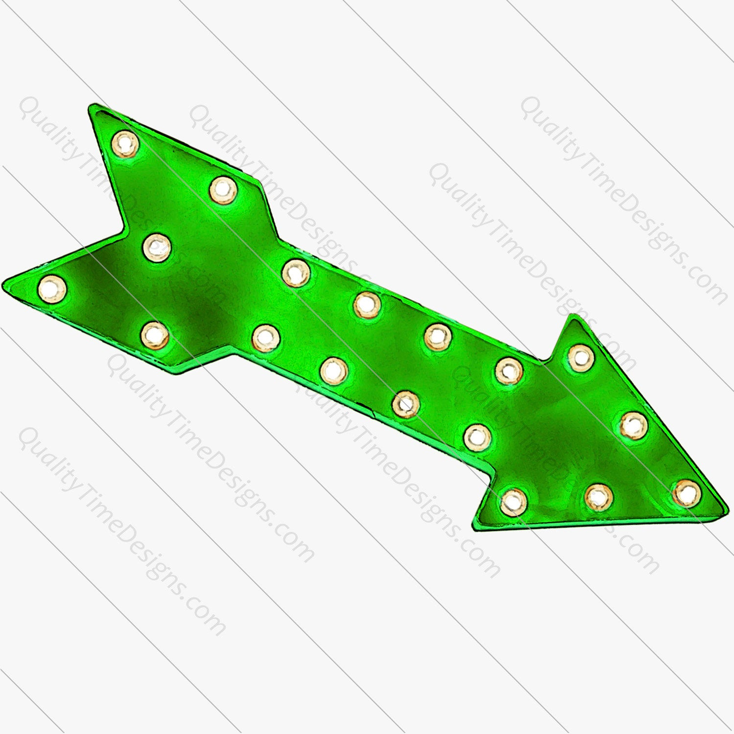 Green Marquee Arrow Clipart.