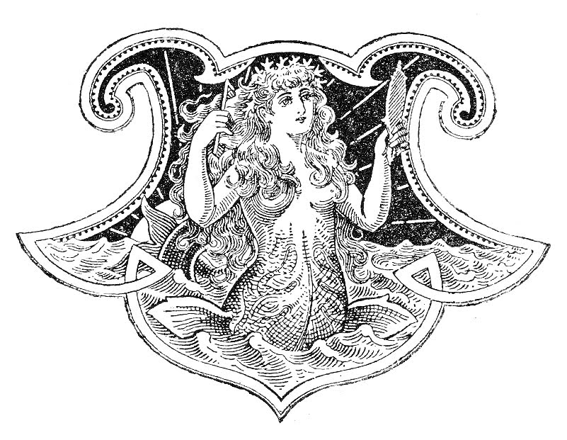 Mermaid black and white free antique clip art beautiful mermaid the.