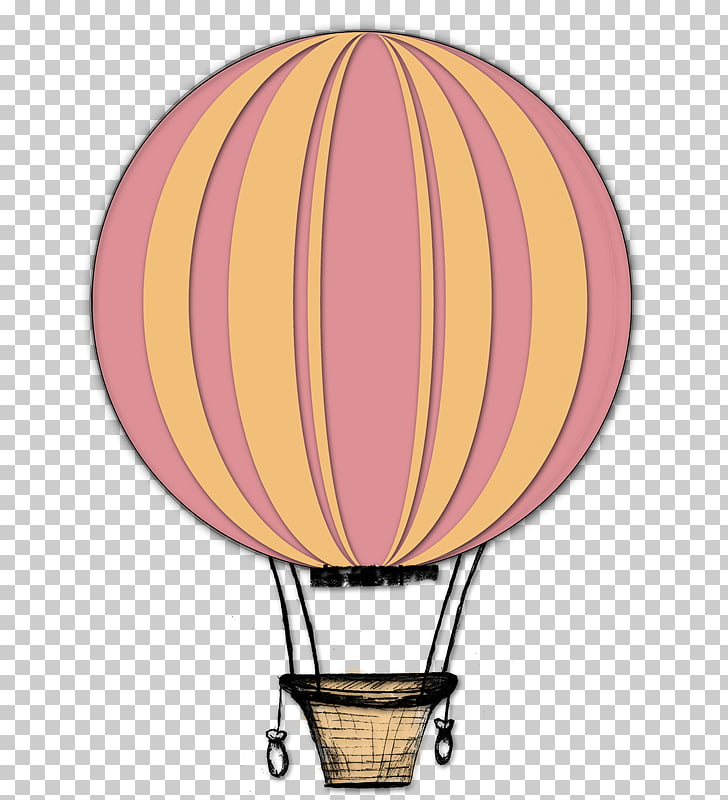 Drawing Hot air balloon , retro vintage insignias PNG.