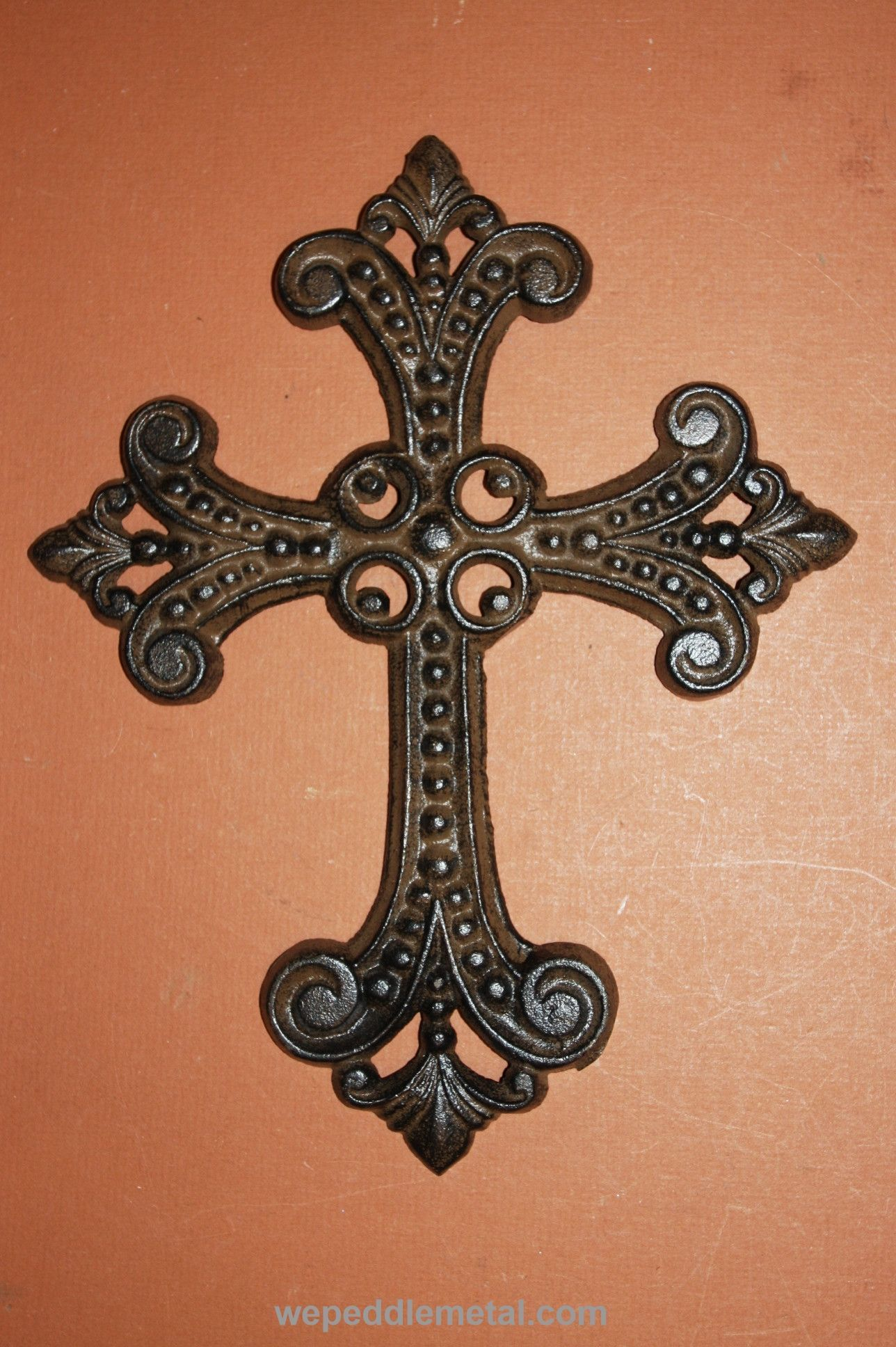MEDIEVAL STYLE CROSS HOME DECOR, CAST IRON CROSS OLD WORLD.